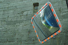Convex Mirror. Curved Convex Mirror for Traffic Use, Security royalty free stock images