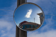 Convex Mirror in Crossing Stock Images