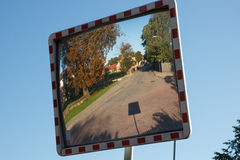 Convex mirror Royalty Free Stock Photo