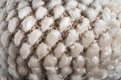 Convex pattern of structure of cloth knitting from yarn and natu Stock Image