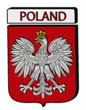 Convex Poland Emblem Royalty Free Stock Photo