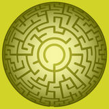 Convex round maze. Illustration of the convex round maze Royalty Free Stock Images