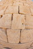 Convex Stone Wall Texture Stock Photography