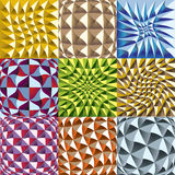 Convex twisted color squares patterns Stock Photography