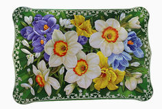 Convex volume floral arrangement on the box Stock Image