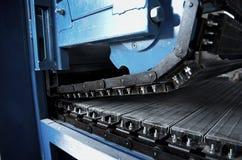 Convey-er belt. industry track. conveyor belt. Stock Image