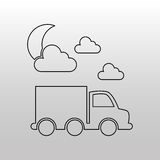 Conveyance concept design. Illustration eps10 graphic Royalty Free Stock Photography