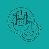 Conveyance drawn design. Illustration eps10 graphic Royalty Free Stock Photos