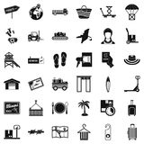 Conveyance icons set, simple style. Conveyance icons set. Simple set of 36 conveyance vector icons for web isolated on white background Stock Photography
