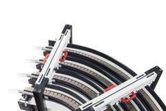 Conveyer belt. Industrial conveyer belt close up stock photos