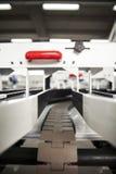 Conveyer belt. Industrial conveyer belt close up royalty free stock photos