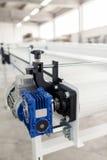 Conveyer belt. Industrial conveyer belt close up stock photo