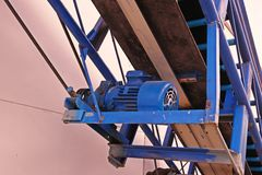 Conveyer system. Equipment to provide better and faster for load and unload goods royalty free stock image