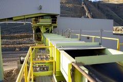 Conveyor 1. Conveyor system in a mill Stock Image