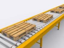 Conveyor. Band on white background Stock Images