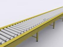 Conveyor. Band on white background Stock Photo