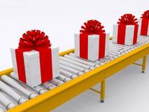Conveyor. Band on white background Royalty Free Stock Photography