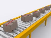 Conveyor. Band on white background Royalty Free Stock Image
