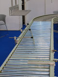 Conveyor belt. Stainless steel conveyor belt Royalty Free Stock Image
