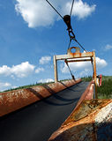 Conveyor Belt. This is a picture of a rusted conveyor belt royalty free stock image