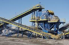 Conveyor belt. In the quarry Stock Photos