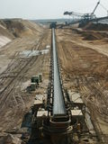 Conveyor belt. In an open pit Stock Photography