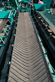 Conveyor belt for Agricultural products. An empty conveyor belt for Agricultural products Stock Image