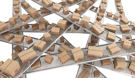 Conveyor belt chaos Royalty Free Stock Images