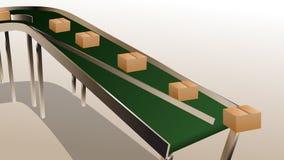 Conveyor belt royalty free illustration