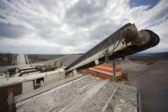 Conveyor belt on crusher Royalty Free Stock Photos
