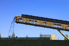 Conveyor belt & discharge. Stock Photography