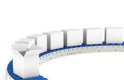 Conveyor Belt, Front View Stock Images