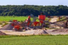 Conveyor Belt - gravel pit Stock Images