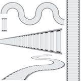 Conveyor Belt Icon Set Royalty Free Stock Photography