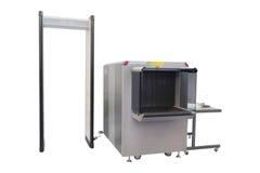 Conveyor belt and metal detector Stock Image
