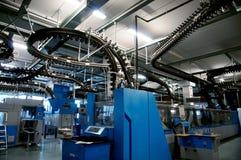 Conveyor belt for newspapers Stock Photo