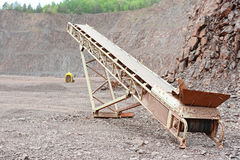 Conveyor belt in an open pit mine Stock Images
