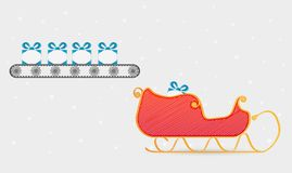 Conveyor belt with presents Royalty Free Stock Photos