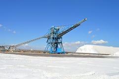 Conveyor Belt - Salt Industry Royalty Free Stock Photography