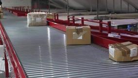 Conveyor Distribution Shipping stock footage