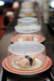 Conveyor belt sushi Stock Photos
