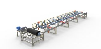 Conveyor belt for the transport of materials Royalty Free Stock Image