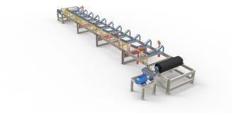 Conveyor belt for the transport of materials Stock Photos
