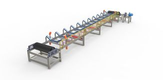 Conveyor belt for the transport of materials Stock Image