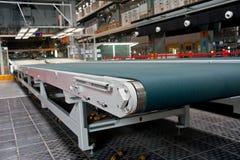 Conveyor belt in the workshop