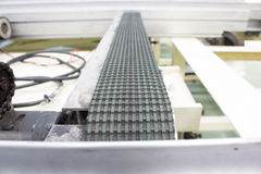 Conveyor belts in the production line of the factory Stock Image