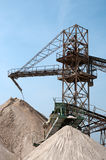 Conveyor belts in a sand quarry Stock Photo
