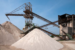 Conveyor belts in a sand quarry Stock Photography