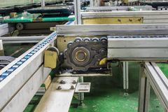 Conveyor chain drive shaft production line of the factory. Stock Photography