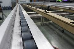 Conveyor chain line. Belt automatic royalty free stock photos